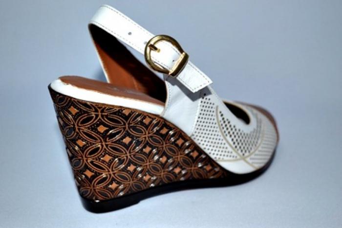 Sandale Dama Piele Naturala Albi Lola 4