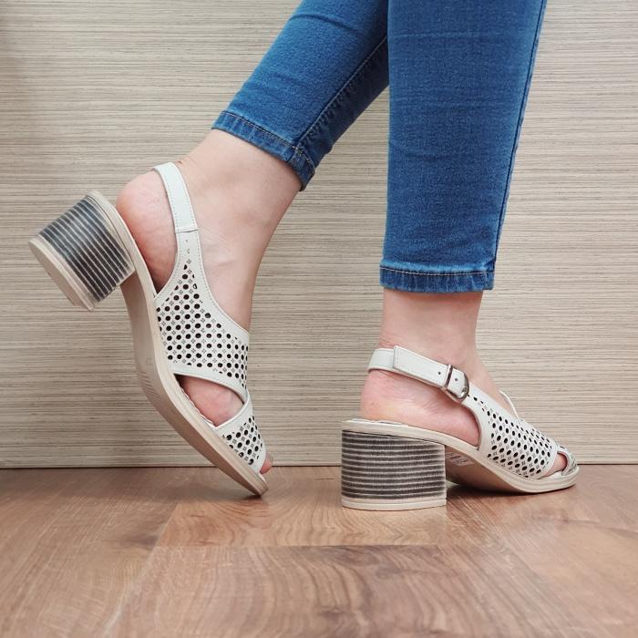 Sandale Dama Piele Naturala Bej Alexandra D02435 3