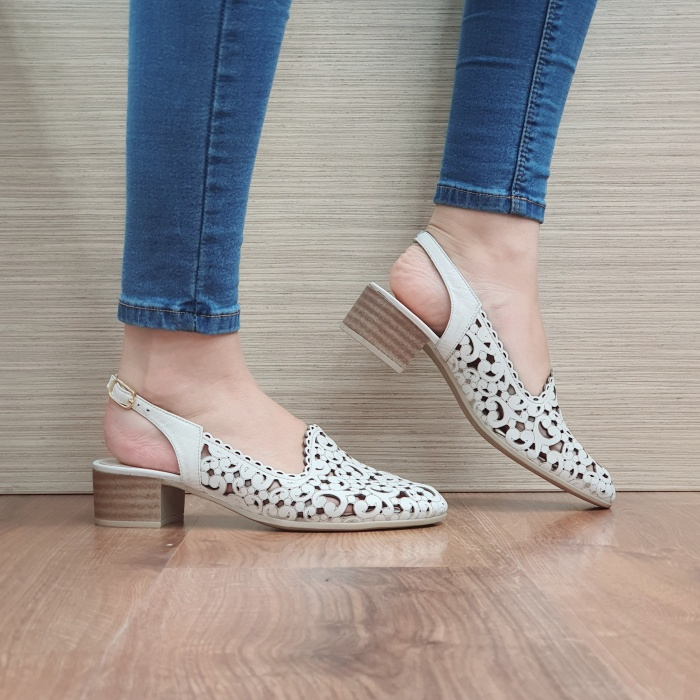Pantofi Dama Piele Naturala Bej Dorina D02461 [0]