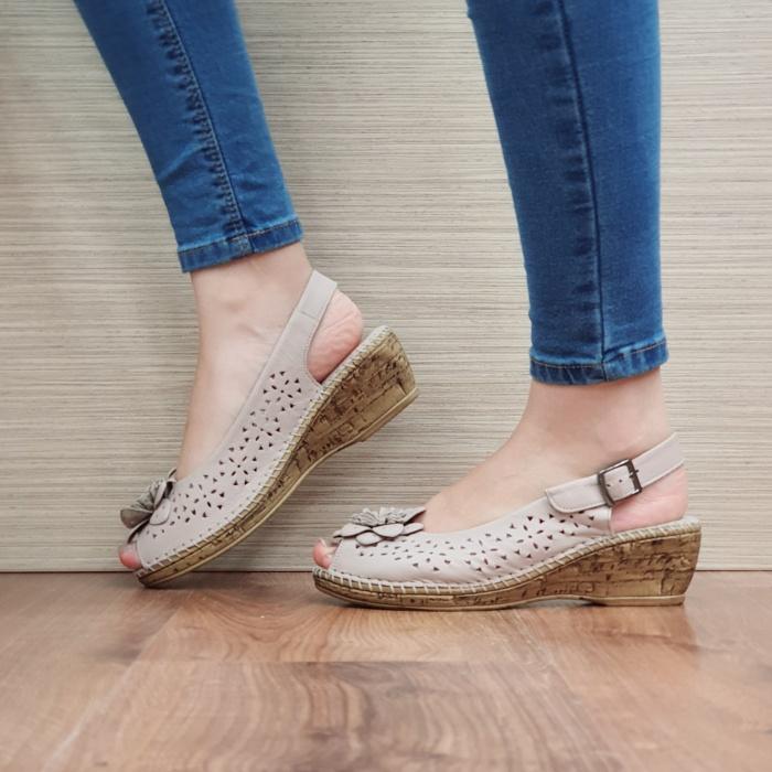 Sandale Dama Piele Naturala Bej Natasha D02442 1