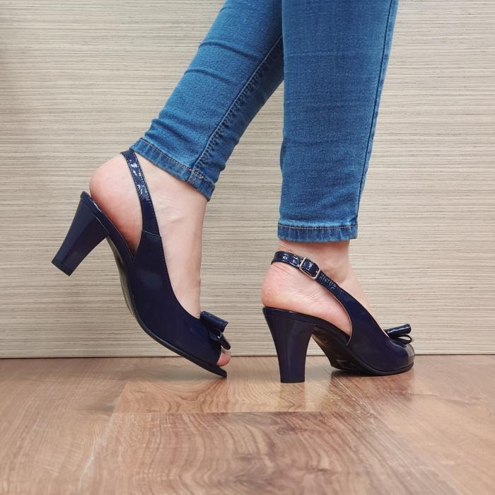 Sandale Dama Piele Naturala Bleumarin Katarina D02429 3