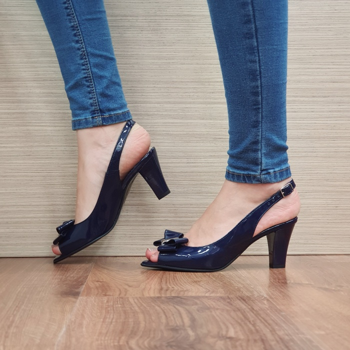 Sandale Dama Piele Naturala Bleumarin Katarina D02429 1