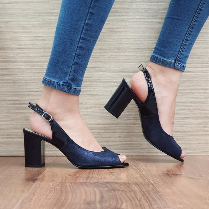Sandale Dama Piele Naturala Bleumarin Rosalinda D02409 0