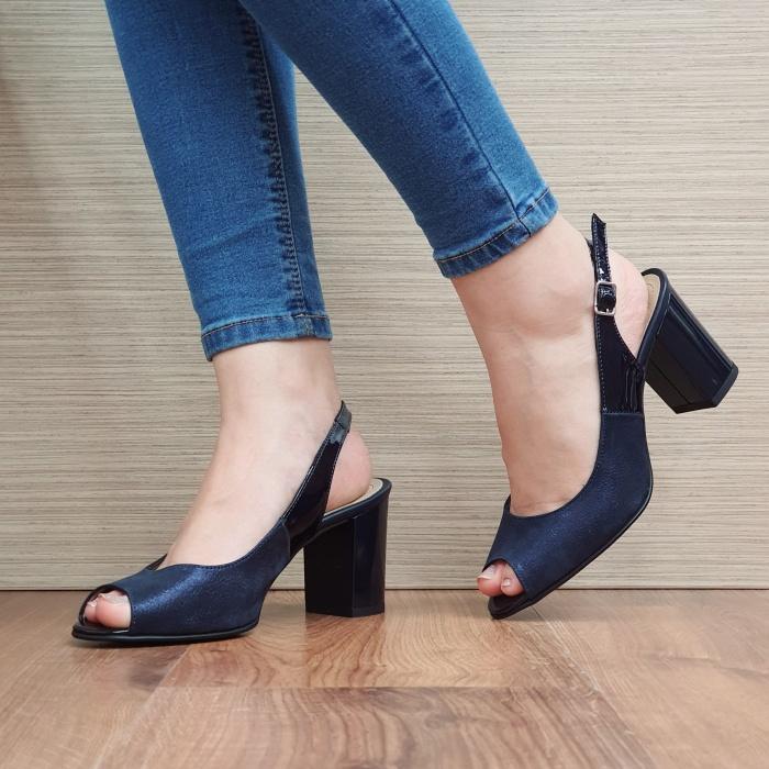 Sandale Dama Piele Naturala Bleumarin Rosalinda D02409 2