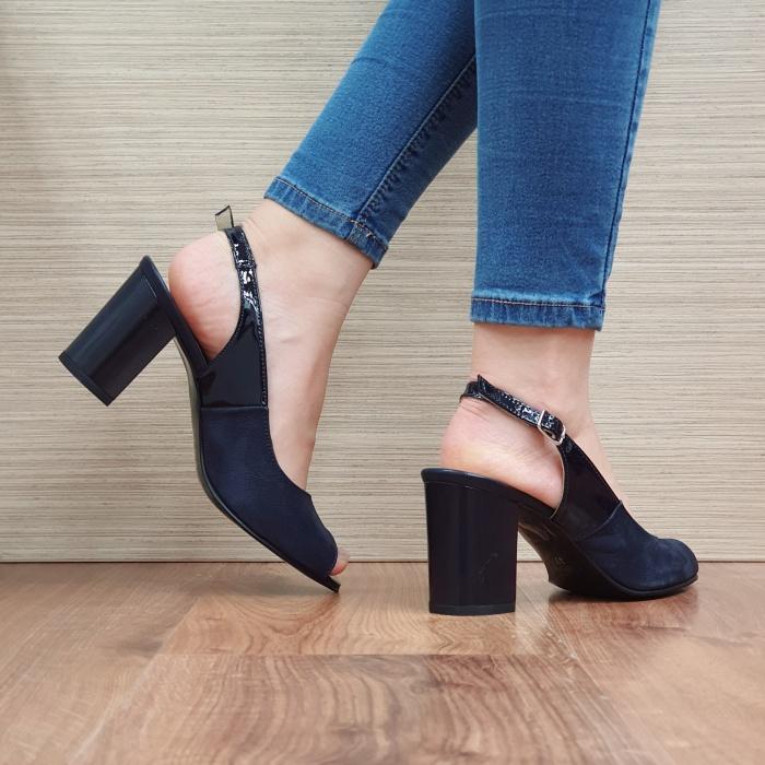 Sandale Dama Piele Naturala Bleumarin Rosalinda D02409 3