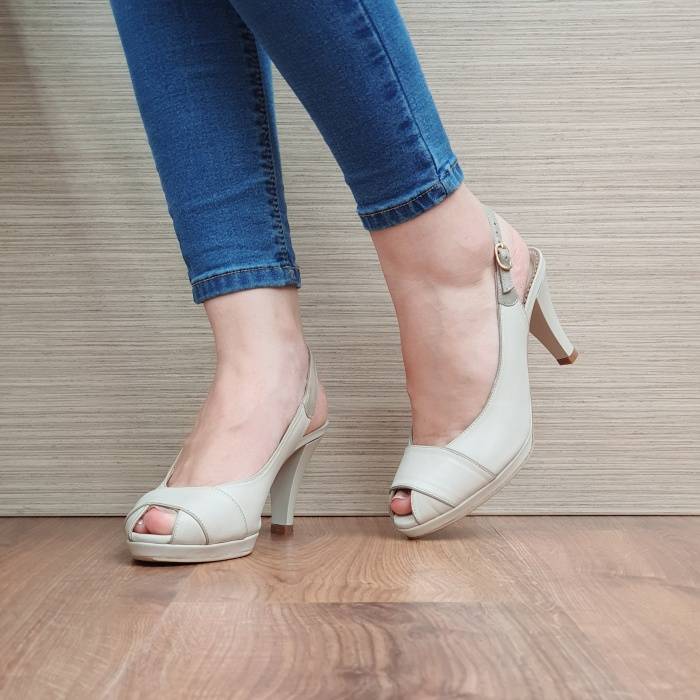 Sandale Dama Piele Naturala Guban Bej Beverly D02414 2