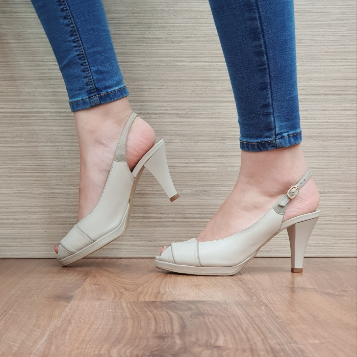 Sandale Dama Piele Naturala Guban Bej Beverly D02414 1