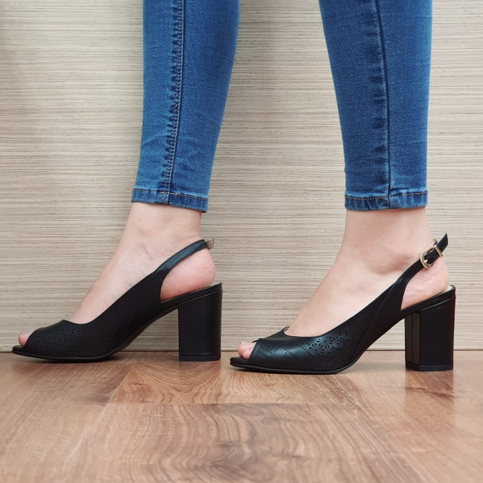 Sandale Dama Piele Naturala Guban Negre Ambrosia D01667 2
