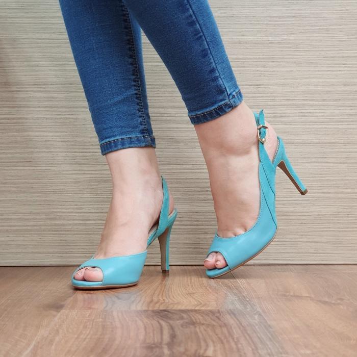 Sandale Dama Piele Naturala Guban Turquoise Katia D02417 [0]