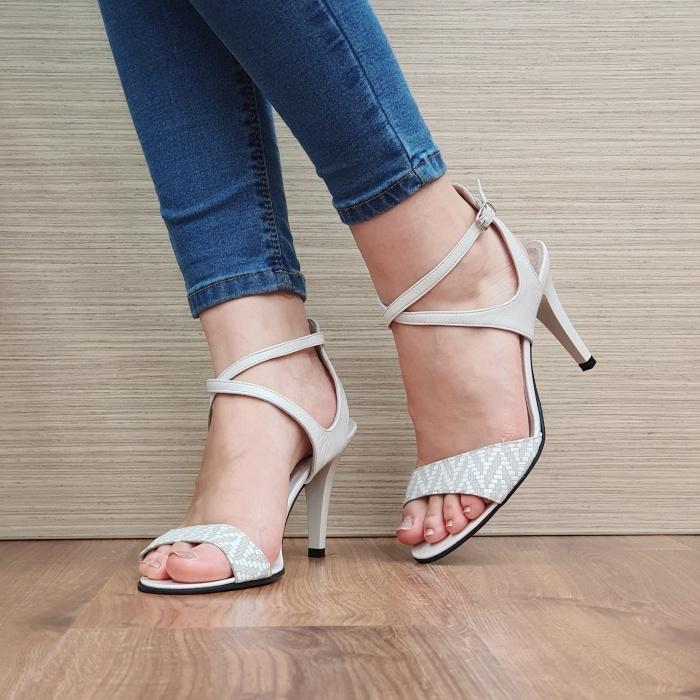 Sandale Dama Piele Naturala Moda Prosper Bej Augusta D02434 2