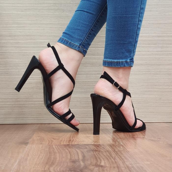 Sandale Dama Piele Naturala Moda Prosper Negre Shakti D02403 3