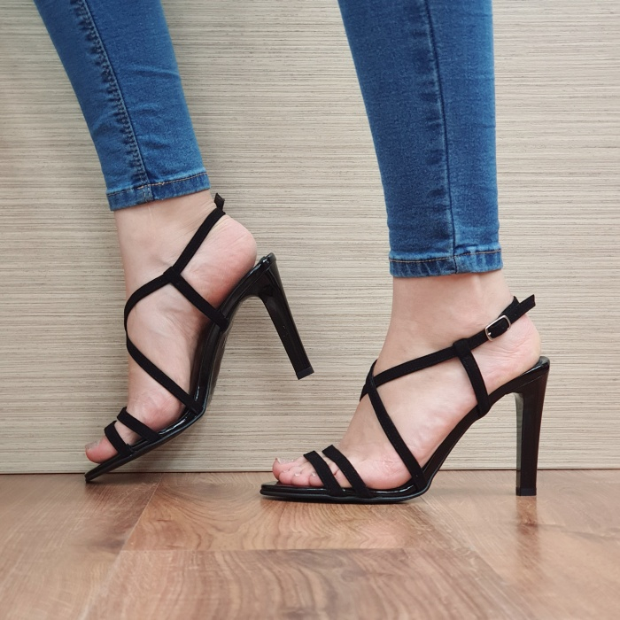 Sandale Dama Piele Naturala Moda Prosper Negre Shakti D02403 1