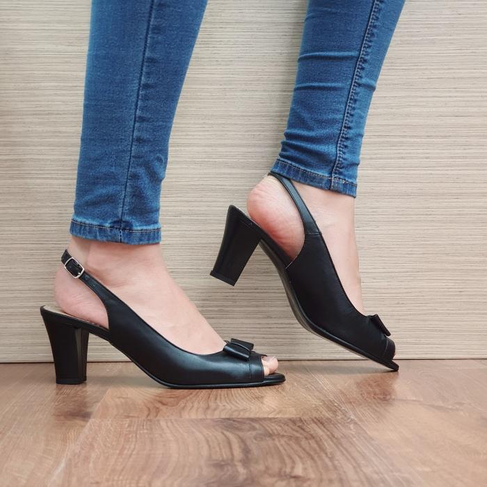 Sandale Dama Piele Naturala Negre Devon D02433 [0]