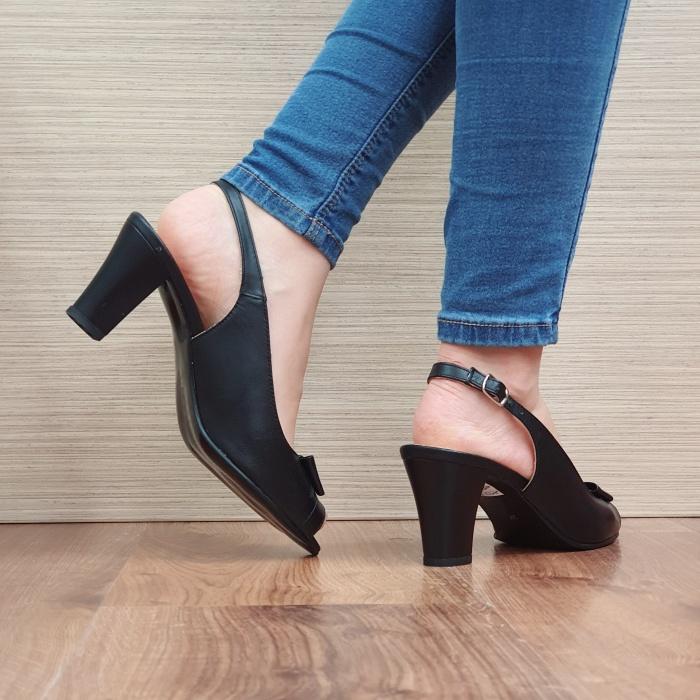 Sandale Dama Piele Naturala Negre Devon D02433 [3]