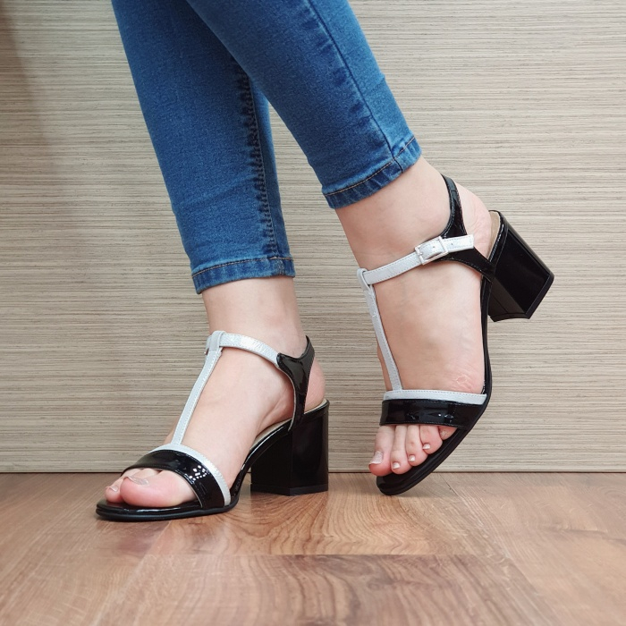 Sandale Dama Piele Naturala Negre Kasia D02411 2