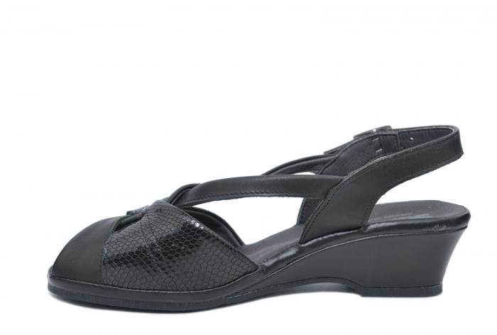 Sandale Piele Naturala Negre Lavi 1