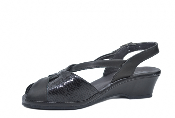 Sandale Piele Naturala Negre Lavi 2