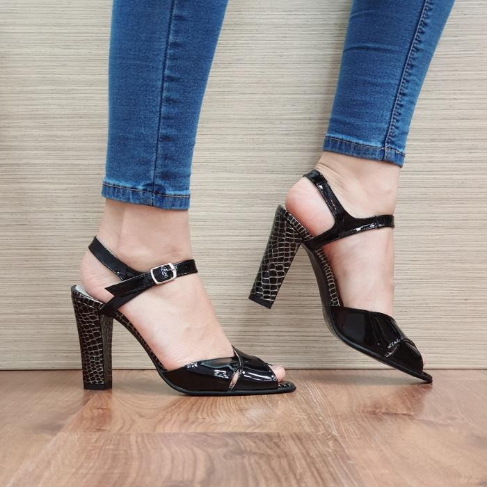 Sandale Dama Piele Naturala Negre Ozana D02425 0