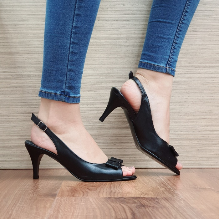 Sandale Dama Piele Naturala Negre Virana D02427 0