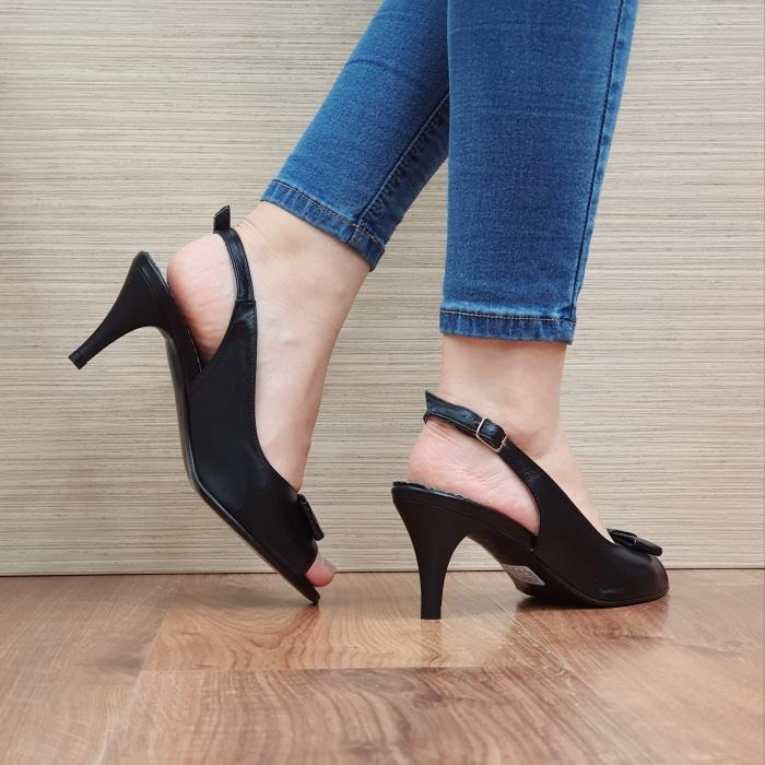Sandale Dama Piele Naturala Negre Virana D02427 3