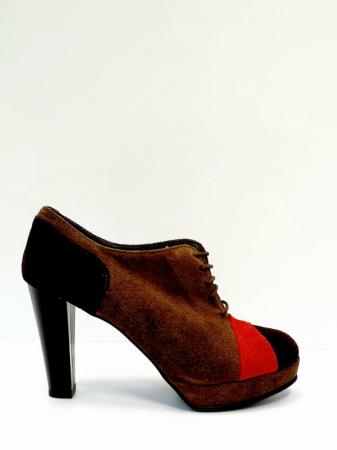 Pantofi cu toc Piele Naturala Maro Andy D027120