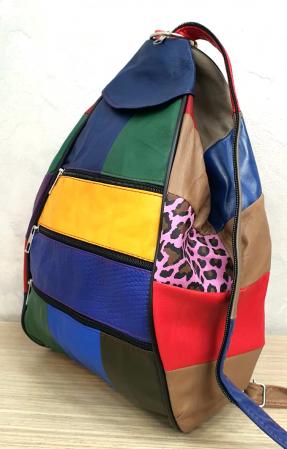 Rucsac Dama Piele Naturala Multicolor Seana G002875