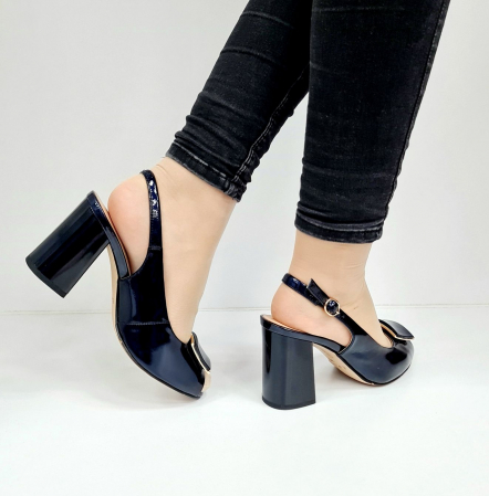 Sandale Dama Piele Naturala Bleumarin Epica Naely D026714