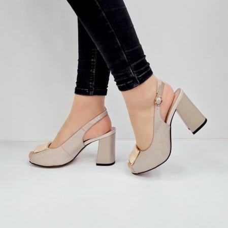 Sandale Dama Piele Naturala Bej Epica Heloisa D026721
