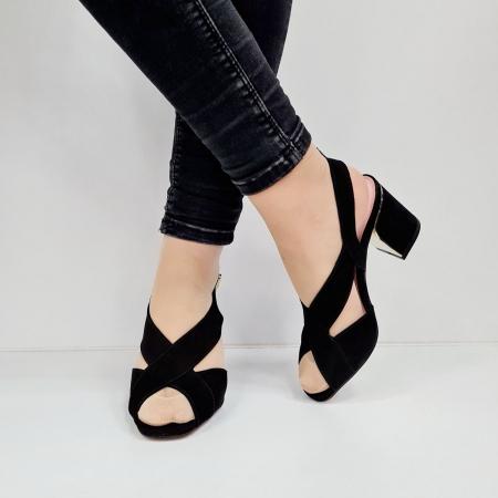 Sandale Dama Piele Naturala Negre Epica Tamara D026733