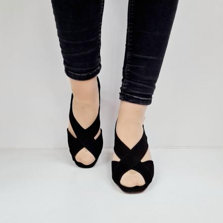 Sandale Dama Piele Naturala Negre Epica Tamara D026734