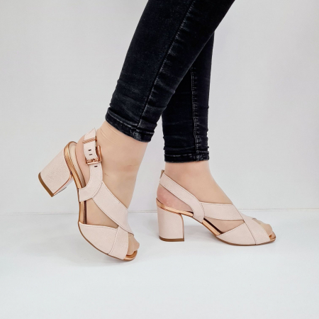 Sandale Dama Piele Naturala Nude Epica Laisa D026740