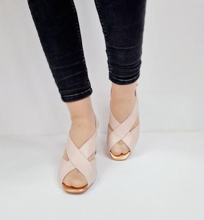 Sandale Dama Piele Naturala Nude Epica Laisa D026744