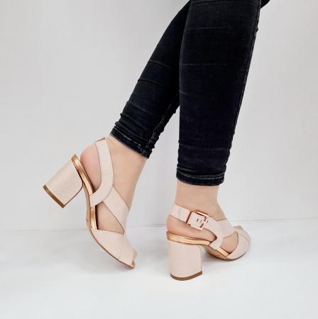 Sandale Dama Piele Naturala Nude Epica Laisa D026745
