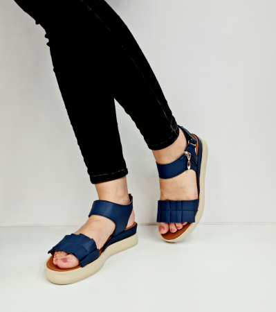 Sandale Dama Piele Naturala Bleumarin Prego Camille D02757 [2]