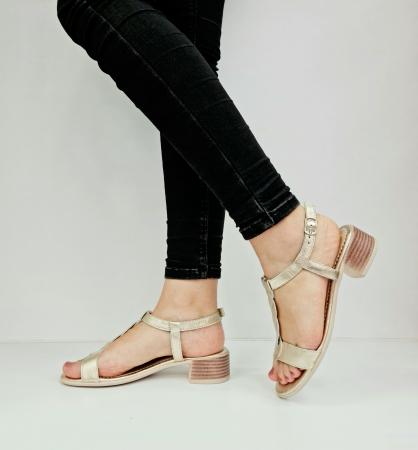 Sandale Dama Piele Naturala Aurii Prego Isabella D02758 [1]