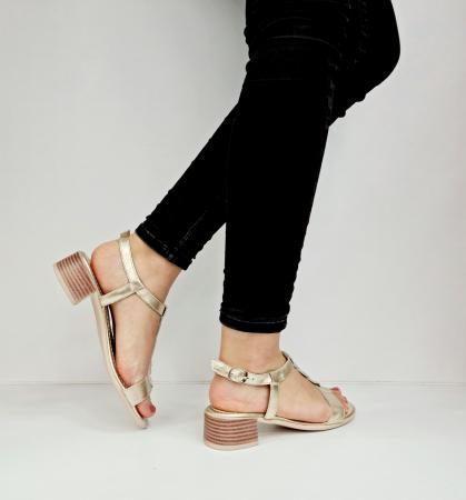 Sandale Dama Piele Naturala Aurii Prego Isabella D02758 [3]