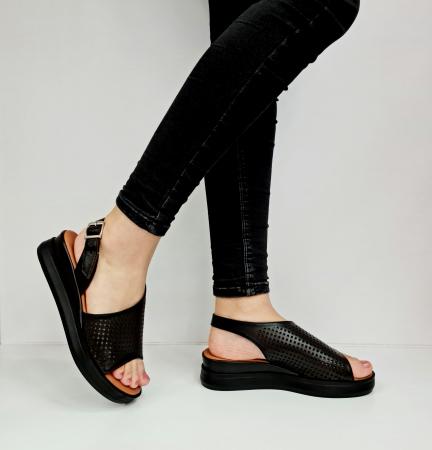 Sandale Dama Piele Naturala Negre Prego Caroline D02759 [0]