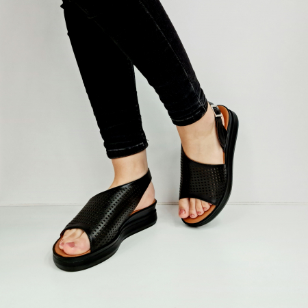 Sandale Dama Piele Naturala Negre Prego Caroline D02759 [2]
