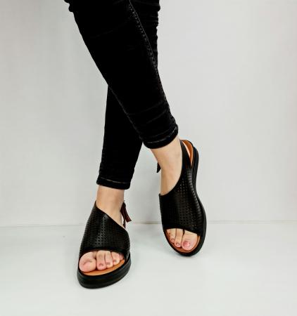 Sandale Dama Piele Naturala Negre Prego Caroline D02759 [3]