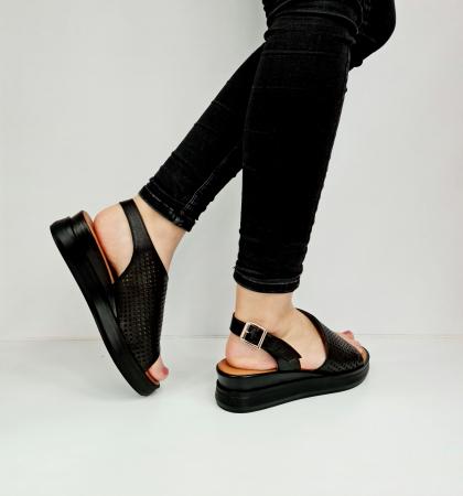 Sandale Dama Piele Naturala Negre Prego Caroline D02759 [4]
