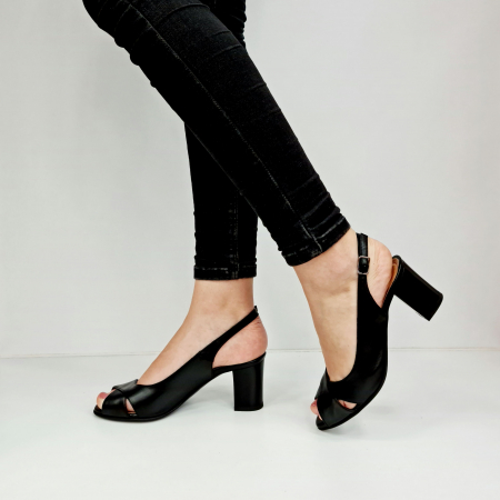Sandale Dama Piele Naturala Negre Celeste D02762 [2]