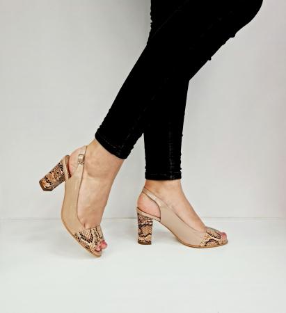 Sandale Dama Piele Naturala Bej Catherine D02763 [0]