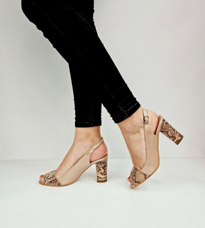 Sandale Dama Piele Naturala Bej Catherine D02763 [1]