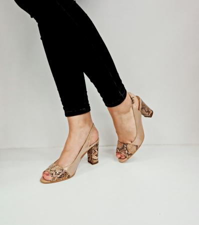 Sandale Dama Piele Naturala Bej Catherine D02763 [2]