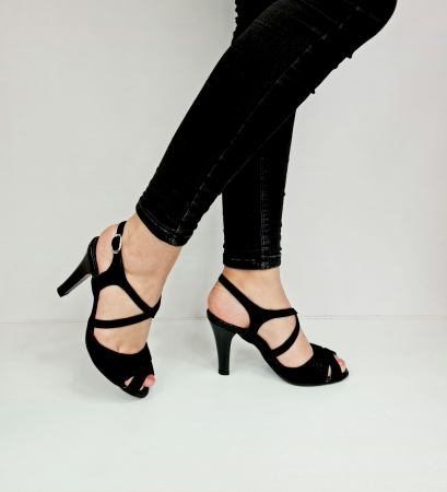 Sandale Dama Piele Naturala Negre Charline D02764 [0]