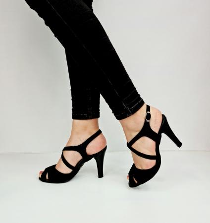 Sandale Dama Piele Naturala Negre Charline D02764 [1]