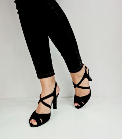 Sandale Dama Piele Naturala Negre Charline D02764 [2]