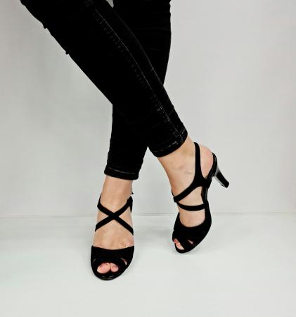 Sandale Dama Piele Naturala Negre Charline D02764 [3]