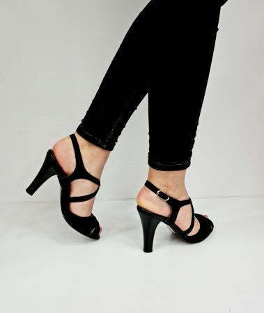 Sandale Dama Piele Naturala Negre Charline D02764 [4]