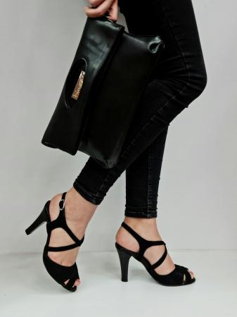 Sandale Dama Piele Naturala Negre Charline D02764 [5]